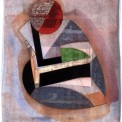 Frederick Lynch, Untitled abstraction, watercolor, ink, pencil on paper, 15.167 x 11.25 in., Gift of Madeline Hunter Farnsworth '37