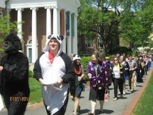 """""""March of the Acid-Free Paper"""" celebrates the completion of Honors Theses."""
