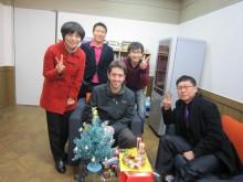 Neill Brandon with Korean Friends