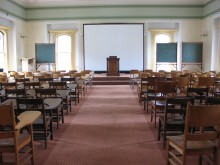 Mary Lyon Hall, Holman Room, seats 120 and is a multi-purpose space during summer months.