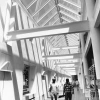 Interior of Balfour-Hood Center. Evan Massar. Photograph 2 of 2. 1986.