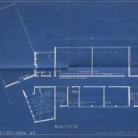 Blueprint for Art Center. Hornbostel and Bennett. Blueprint. 37 x 52 cm. December 14, 1939.