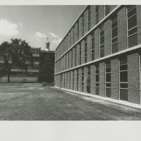 Humanities Building, South (Chapel Field) Facade. Rich and Tucker Associates. Photograph. 5 x 15 cm. 1959.