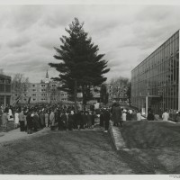 Dedication of Meneely Hall. Unidentified Photographer. Photograph. 20.5 x 24 cm. March 1972.