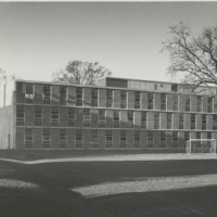 Meneely Hall prior to the Mars Arts and Humanities Addition. Unidentified Photographer. Photograph. ca. 1959.
