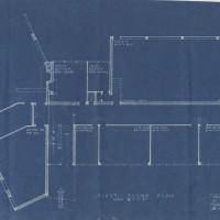 Blueprints for an Art Center. Hornbostel and Bennett. Blueprints. All 28.5 x 46 cm. December 14, 1939.