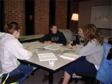 Photo of students learning about statistics