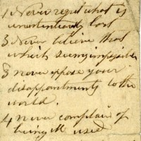 Maxims written in Laban Morey Wheaton's own hand. Found in his pocketbook at the time of his death.