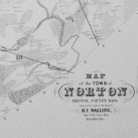 Map of the town of Norton, Bristol County, Mass., in 1855. Survey completed by H.F. Walling.
