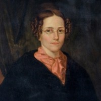 Portrait of Eliza Baylies Wheaton circa 1829, around the time of her wedding. The portrait was painted by Eunice Makepeace Towle.