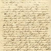 Letter written by Mary Lyon to Laban Morey Wheaton responding to his invitation to serve as principal of soon-to-open Wheaton Female Seminary. Letter is dated July 8, 1834. Page 1