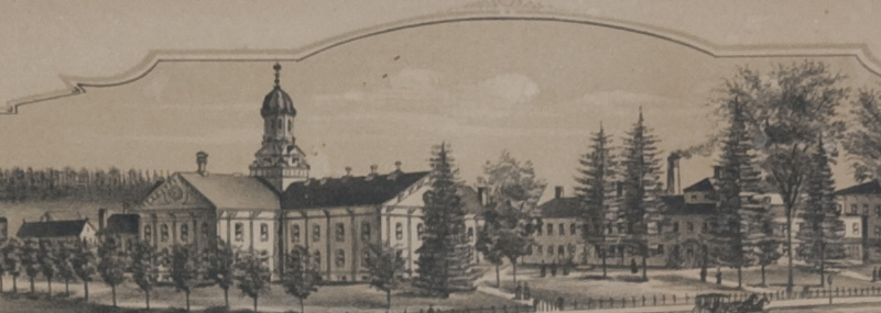 Wheaton Female Seminary, Norton, Massachusetts; G.H. Bailey & Co. Lith & Pub. Boston, 1891