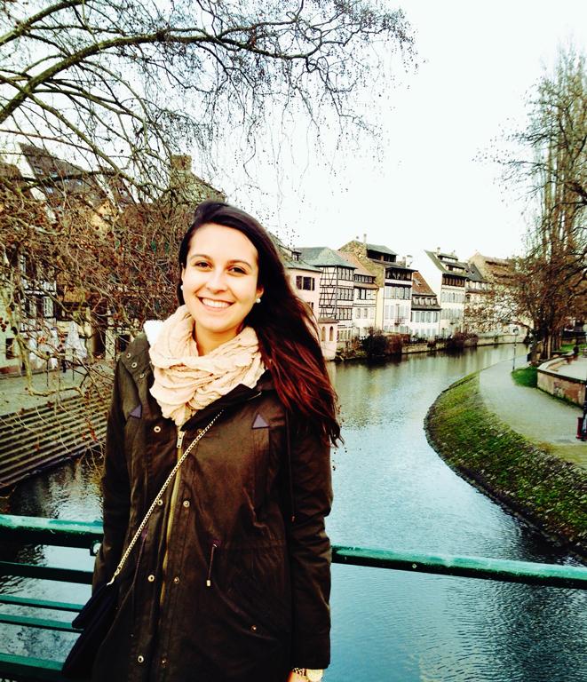 Chloe Sarapas enjoys a weekend getaway in Strasbourg