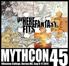 The logo for Mythcon 45, hosted by Wheaton, was designed by recent grad Leah Smith '14.