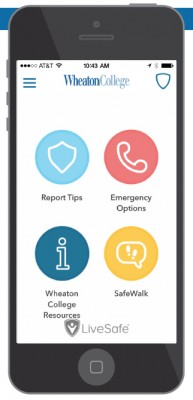 Connected to Wheaton Public Safety, the new LiveSafe app provides four main functions.