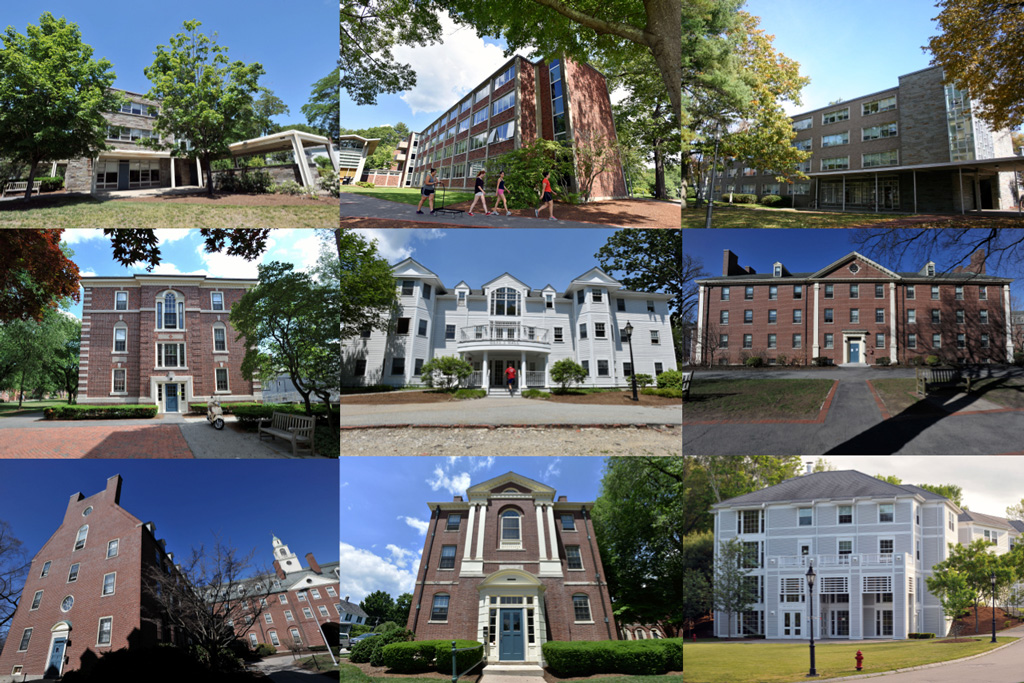 Residence Halls Collage
