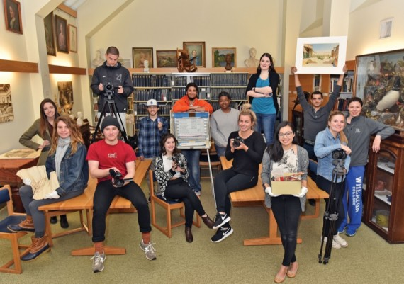 Film Students in the Wheaton Archives