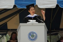 NBC journalist Ann Curry addresses the Class of 2010