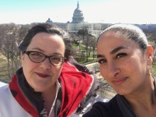 As board member and director, respectively, Ghadessi and Elizabeth Francis represented the RI Council for the Humanities at the Humanities on the Hill event in Washington, D.C.