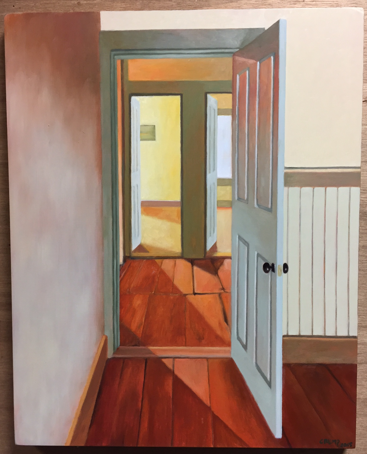 Title Three Doors Date 2015. Culture American Dimensions 20×16\u2033 Materials Oil on panel. Credit Gift of the artist in honor of the Class of 1967 & Three Doors - Wheaton College Massachusetts