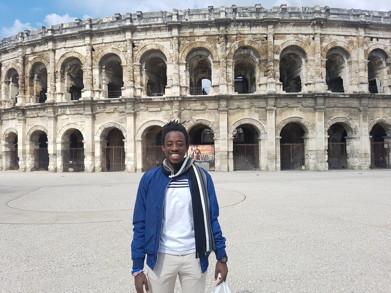 Ibrahim Nshimirimana in Nîmes