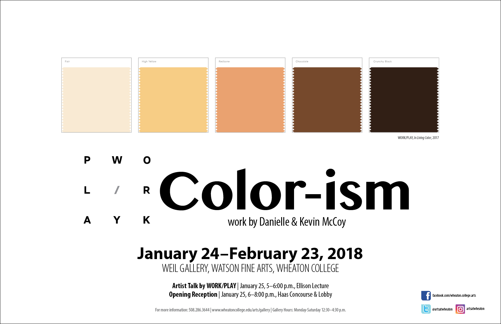 Gallery Exhibition—Work/Play: Color-ism - Wheaton College Massachusetts