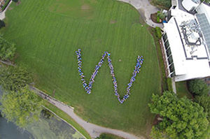 Staff in W on Chapel Field