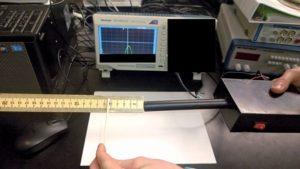 A functional prototype of a titanium clip metal detector