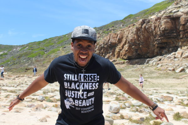 A photo of a person wearing a shirt that represent black power