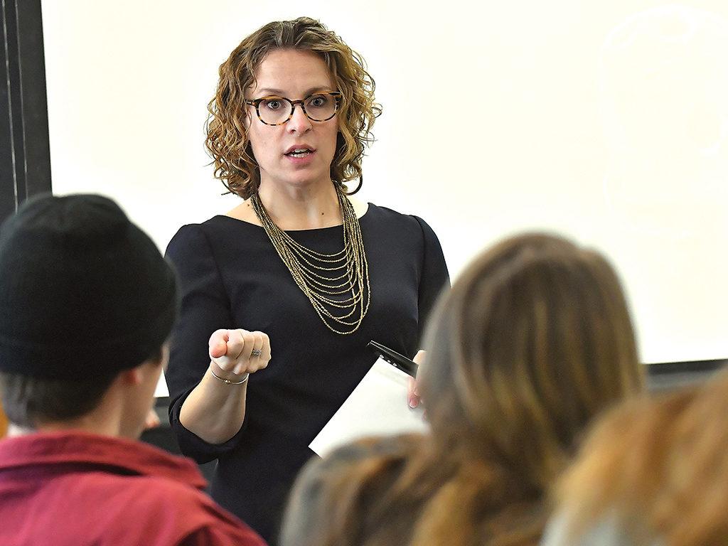 Assistant Professor of Psychology Christina Riggs Romaine