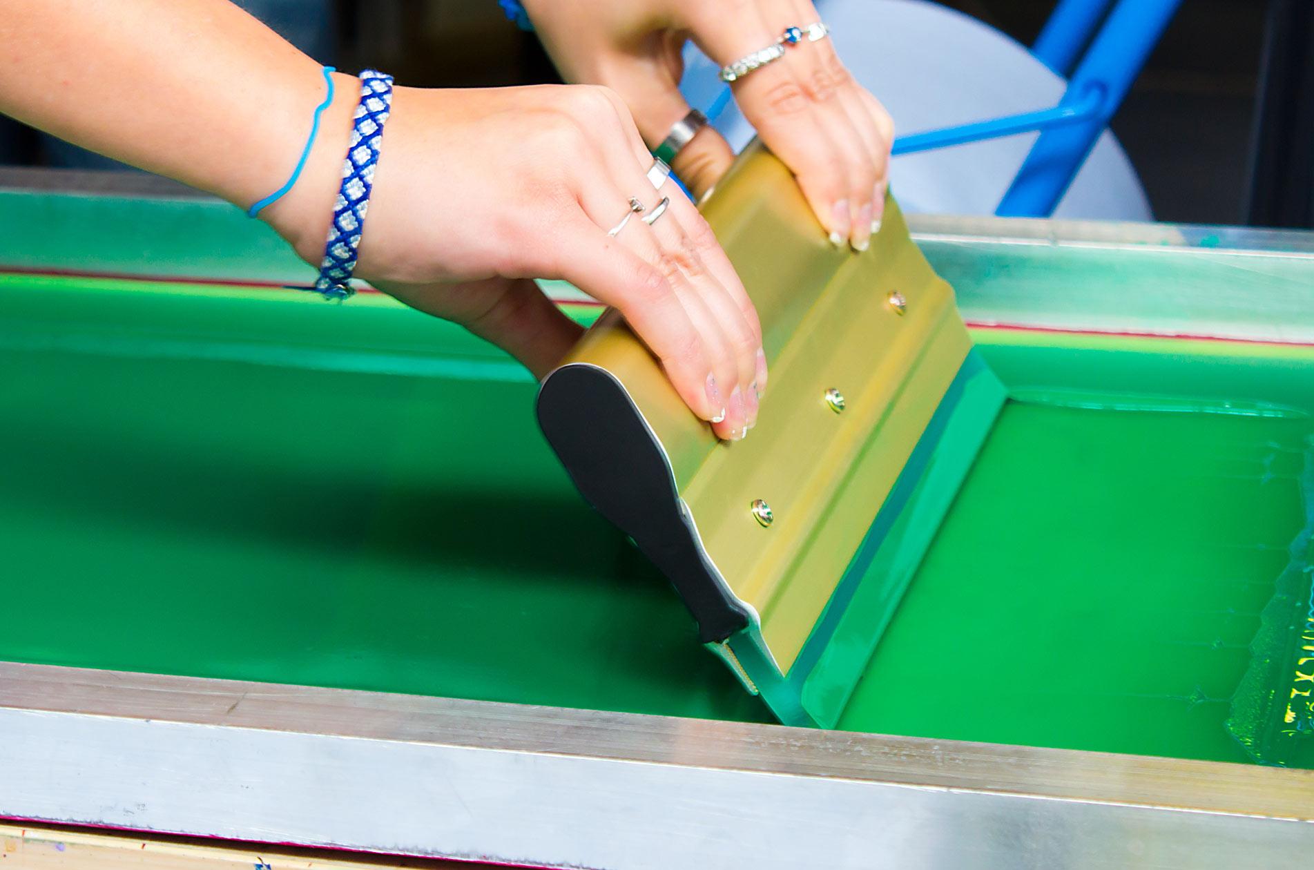 26e70e4d0 Silk Screen Printing Party - Wheaton College Massachusetts