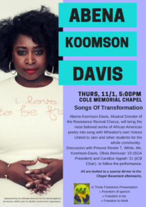 Poster for Abena Koomson-Davis: Songs of Transformation