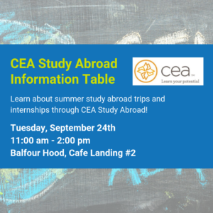 CEA Study Abroad Information Table Flyer