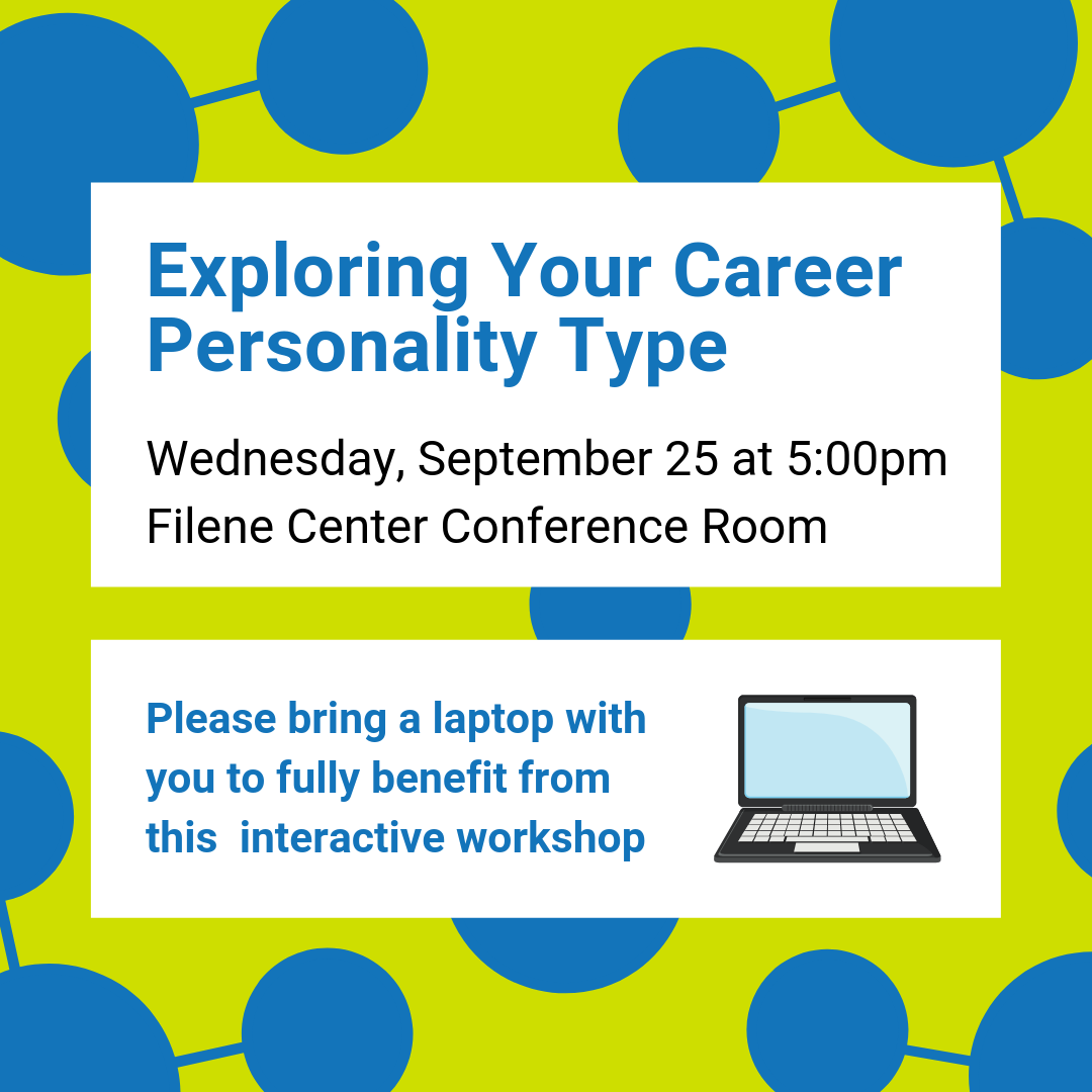 Exploring Your Career Personality Type Workshop Flyer