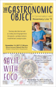Poster for the Gastronomic Object and Say It With Food