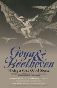 Poster for Goya and Beethoven exhibition