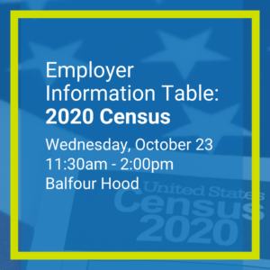 2020 Census Table Flyer