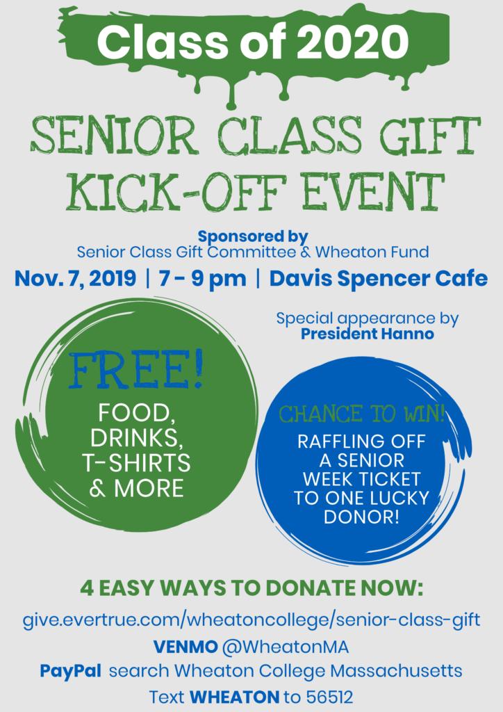 Class of 2020 Senior Class Gift Event Kick-Off Event flyer