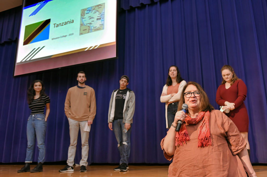 Wheaton students make presentation at Africa Day