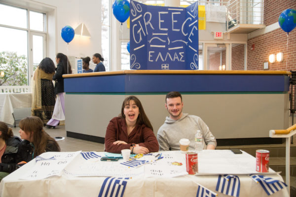 A group of people representing Greece at the International Bazaar