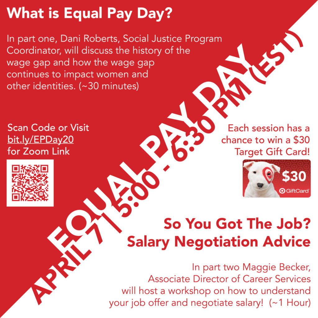 Equal Pay Day and Salary Negotiation Flyer
