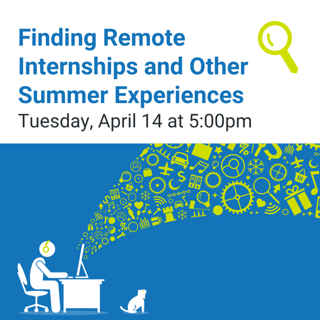 Finding Remote Internships and Other Summer Experiences Marketing Image