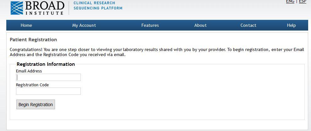 Testing Registration Screenshot