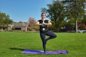 Photo of outdoor yoga class