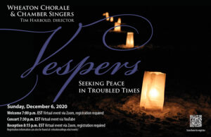 Poster advertising Holiday Vespers
