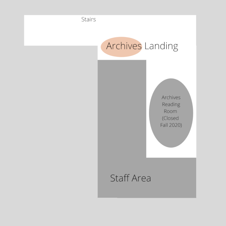 Map of Library Archives Level