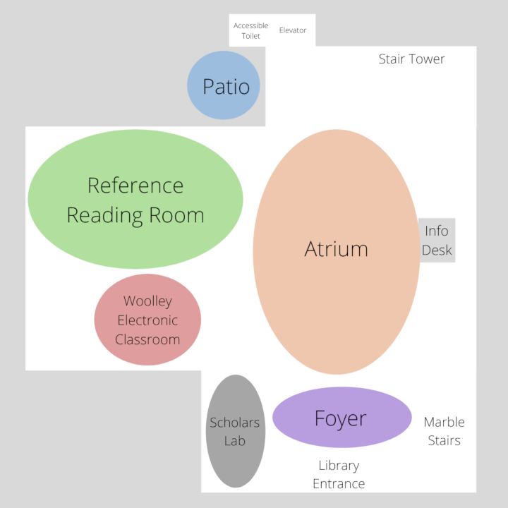 Map of Library Main Level