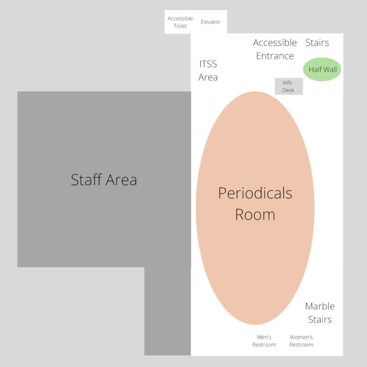 Map of Library Periodicals Level
