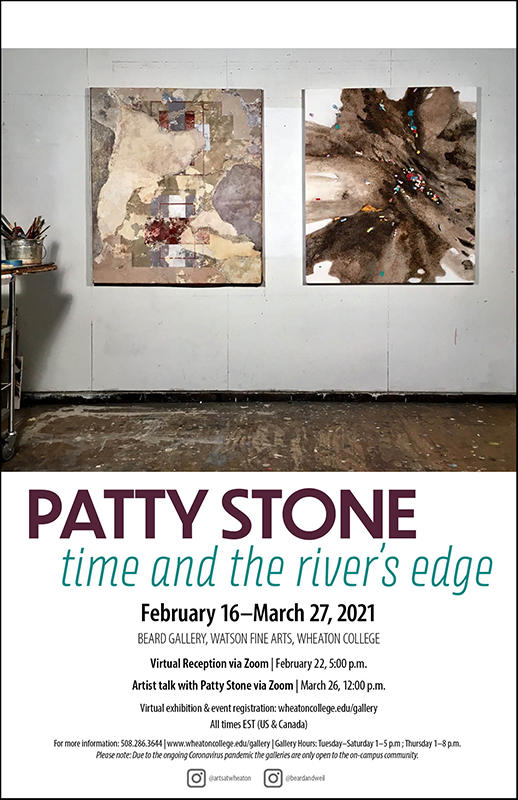 Poster for Gallery Exhibition entitled Patty Stone: Time and the River's Edge