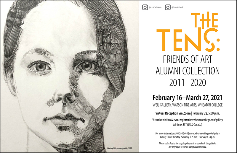 Poster for gallery exhibition The Tens.